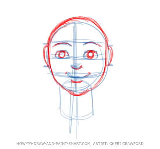 Draw a Human Face Drawing 6