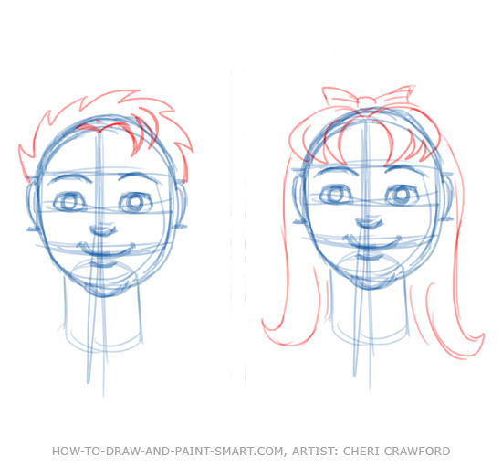 Draw a Human Face Drawing 7