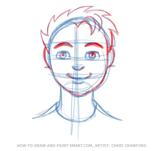 Draw a Human Face Drawing 9