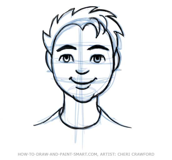 Line Drawing Of Human Face : Draw a human face