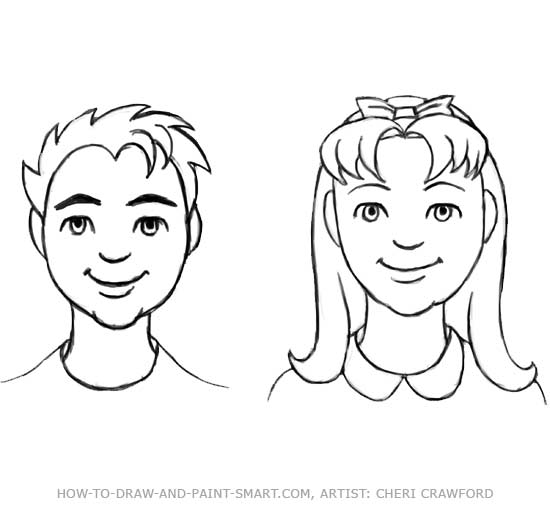 Draw a Human Face Drawing 10