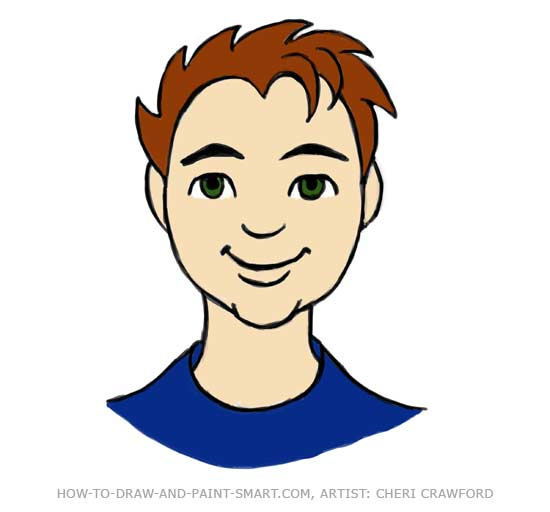 Draw a Human Face Drawing 12