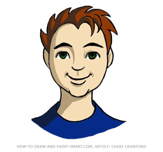 Draw a Human Face Drawing 13