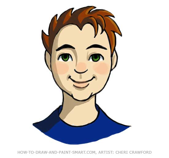 Draw a Human Face Drawing 14