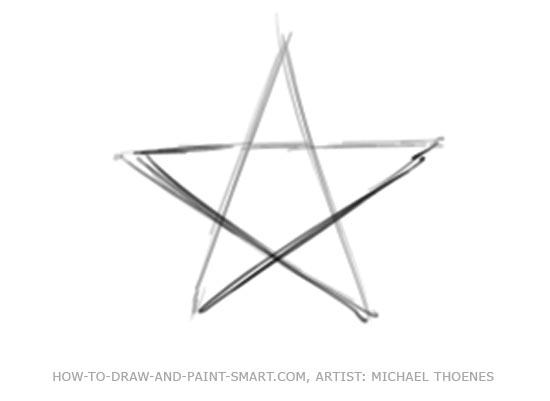 Draw a Star Shape Step 3