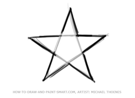Draw a Star Shape Step 4