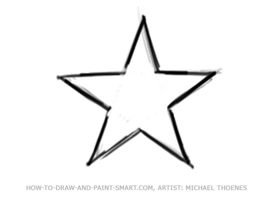 Star Outline Drawing Draw a Star Shape Step 5