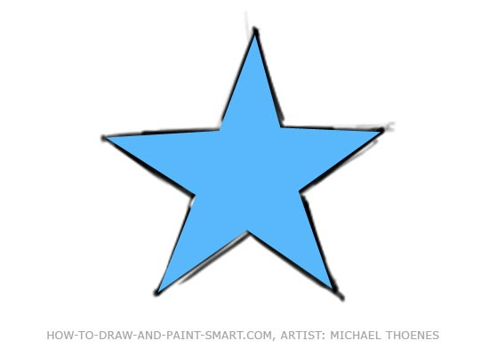 Image gallery star crayon for How to draw a perfect star shape