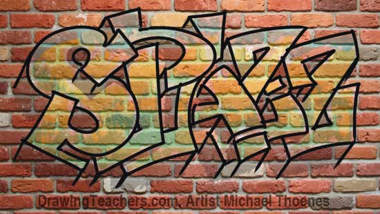 Draw Graffiti Letters Spazz