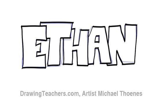 Graffiti Ethan Coloring Page