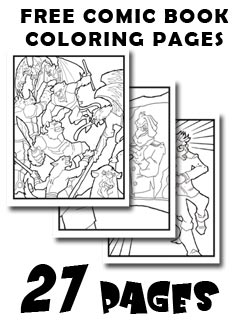 How To Draw Heroes And Villains Comic Book Coloring Pages