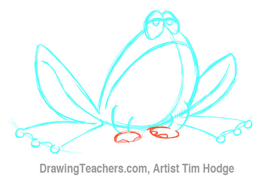 How to Draw a Cartoon frog 7