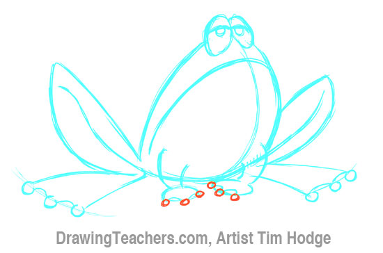 How to Draw a Cartoon frog 8