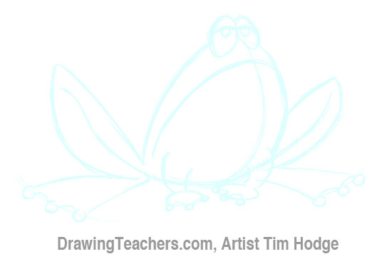 How to Draw a Cartoon frog 9