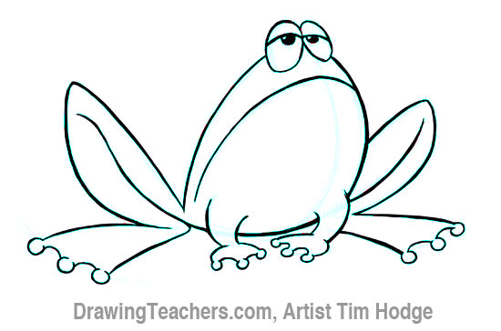 how to draw a cartoon frog 11