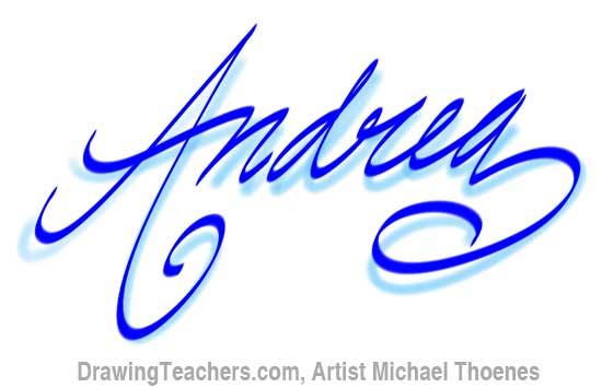 Graffit Letters andrea