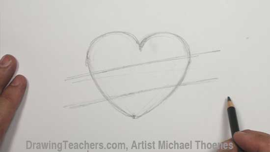 Heart Drawing - Ultimate Heart Design Step 1