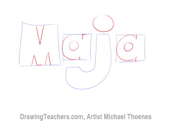 How to Draw 3D Letters - Maja