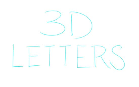 How to Draw 3D-Letters Step 1