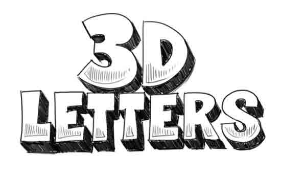 how to draw 3d letters qb2JIynW