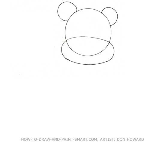 How to Draw a Bear Step 1