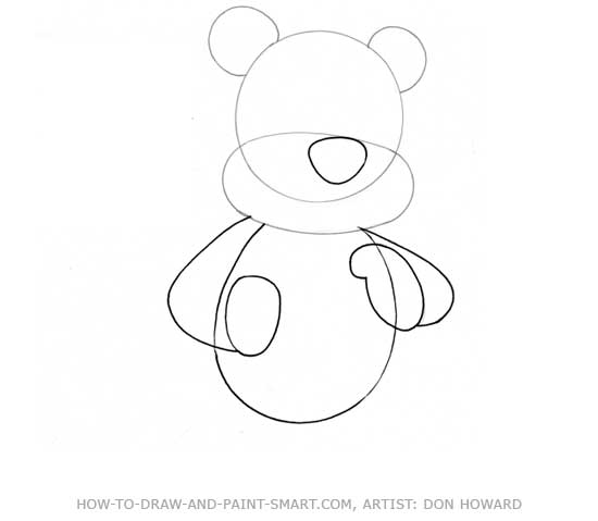How to Draw a Bear Step 2