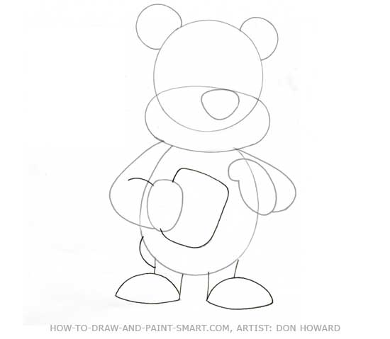 How to Draw a Bear Step 3