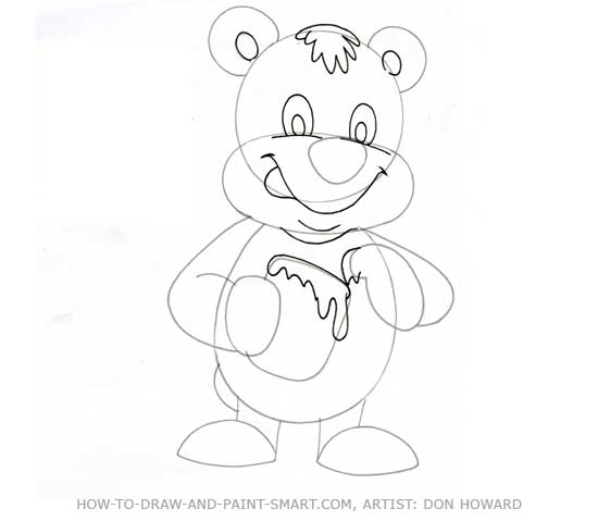 How to Draw a Bear Step 4