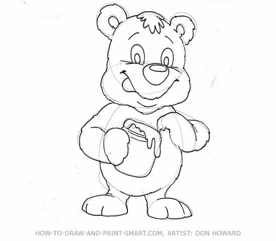 How to Draw a Bear Step 5