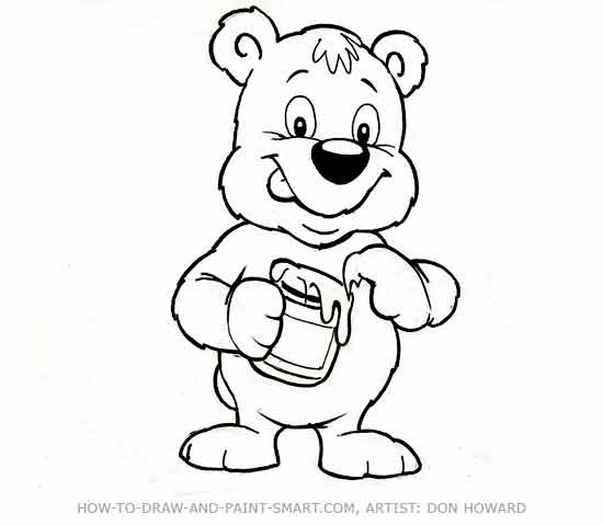 How to Draw a Bear Step 6