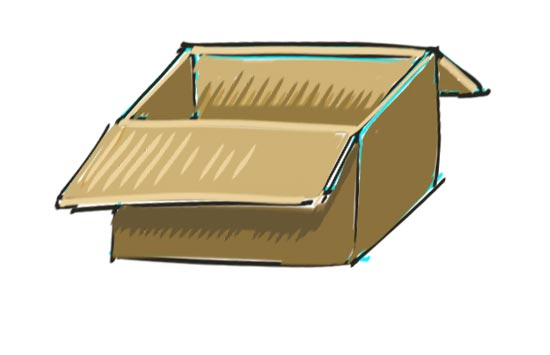 How to Draw a Box Step 10