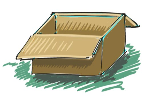 How to Draw a Box Step 11