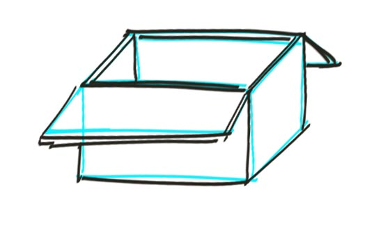 How to Draw a Box Step 6