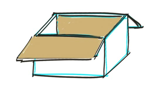 How to Draw a Box Step 7