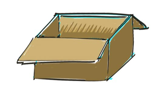 How to Draw a Box Step 8