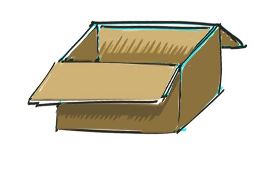 How to Draw a Box Step 9