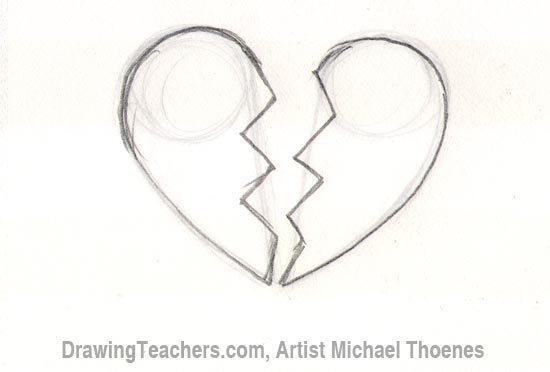 How to Draw a Broken HeartHow To Draw A Broken Heart Step By Step