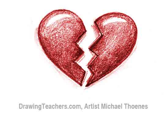 Broken Heart Images How to draw a heart with arrow