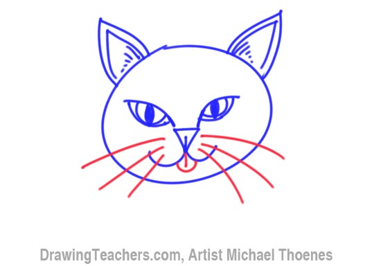 How to Draw a Cartoon Cat Face