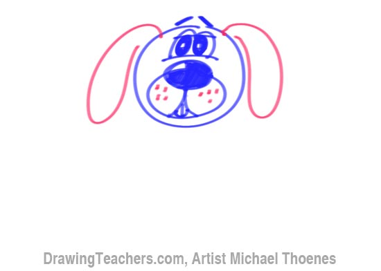 How to Draw a Cartoon Dog Step 6