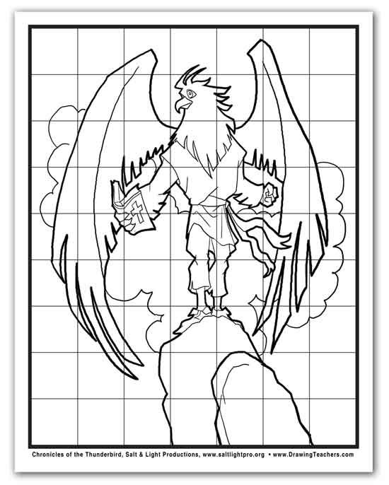 How to Draw a Cartoon Eagle Elijah