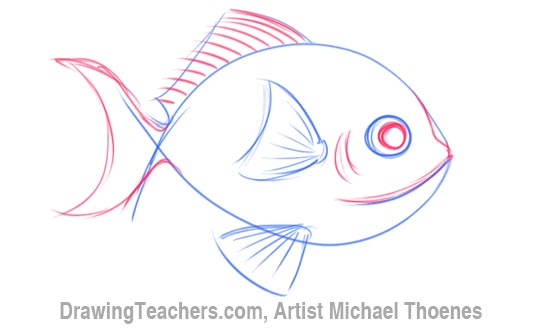 How to Draw a Cartoon Fish 3