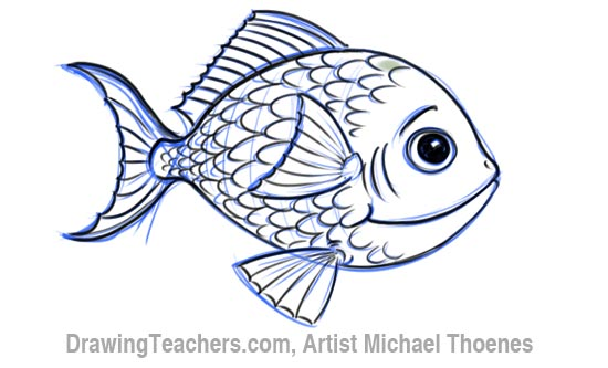 How to Draw a Cartoon Fish 7