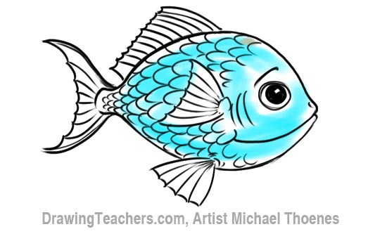 How to Draw a Cartoon Fish 9