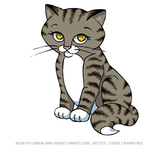 How to Draw a Cat Tabby