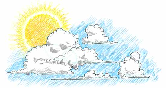 How to Draw Clouds Step 5