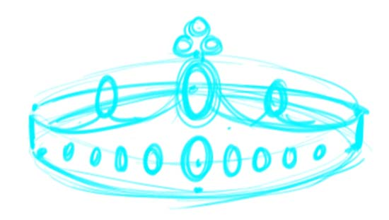How to Draw a Crown Step 7