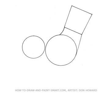How to Draw a Cartoon Dog Step 2