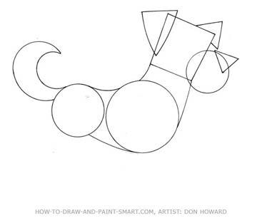 how to draw a cartoon dog head