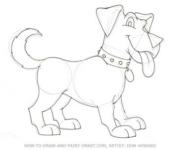 How to draw a cartoon dog - photo#21